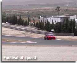 Racing car in the track event