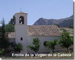 Virgen de la Cabeza chapel on the Umbria de la Virgen walking trail of Sierra Maria