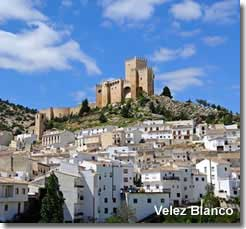 Velez Blanco Andalucian village of Almeria