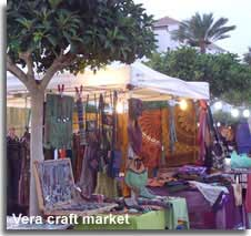 Evening market at Vera Playa