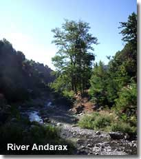 River Andarax along the Almeriense Alpujarra walking trails