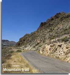 Mountain walking trail