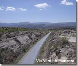 Via verde walking trail of the Almanzora