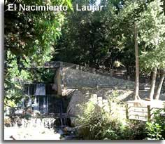 El Naciniento recreational area at the start of the Alpujarra walking trails