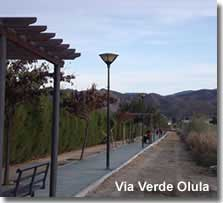 Via Verde walking path in Olula del Rio