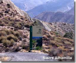 Walking routes in the Sierra Alhamilla in Almeria Spain