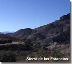 Sierra de las Estancias mountains in Almeria