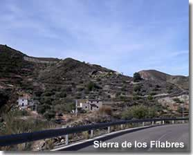 Sierra de los Filabres mountains in Almeria