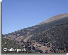 Walking trail to the Chullo peak in the Sierra Nevada mountains of Almeria