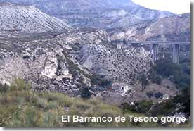 The Tesoro gorge in Sorbas Natural Park in Almeria