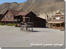 Western Leone village in Tabernas