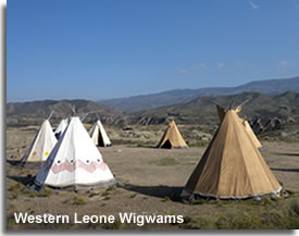 Wigwams of Western Leone  in Tabernas